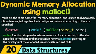 Dynamic Memory Allocation using malloc()