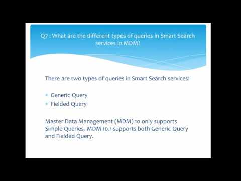64. Informatica MDM 10 - Important Questions and Answers - YouTube