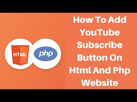 YouTube Subscribe Button On Html And Php Website