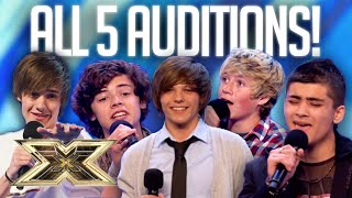 MAKING of ONE DIRECTION: all FIVE Auditions and FIRST as a group!   10 Years of 1D   The X Factor UK