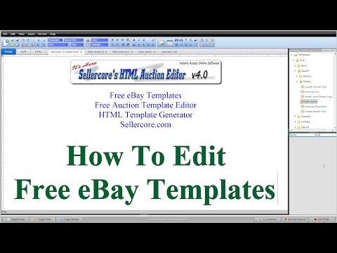 Free eBay Template Design Help and Walkthrough Videos