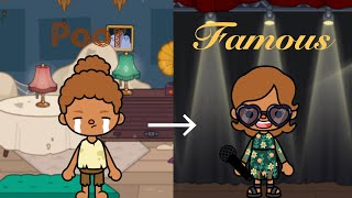 Poor to Famous Singer | Toca life Story