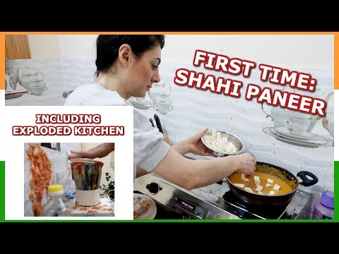 FIRST TIME INDIAN FOOD EP. 2: COOKING SHAHI PANEER RECIPE | TRAVEL VLOG IV
