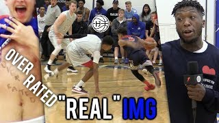 """OVERRATED"" Julian Newman BREAKS ANKLES VS ""REAL"" IMG! CROWD MOCKING HIS HEIGHT! 35 Pts"