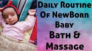 NewBorn Morning Routine   NewBorn Traditional Bath & Massage   Daily Routine   Marathi Vlog