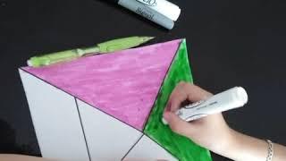 Cómo hacer un tangram | Haz un tangram | tutorial para hacer un tagram en casa