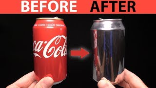 DIY How to Polish a Coca Cola Can - Aluminum Challenge - Video Youtube