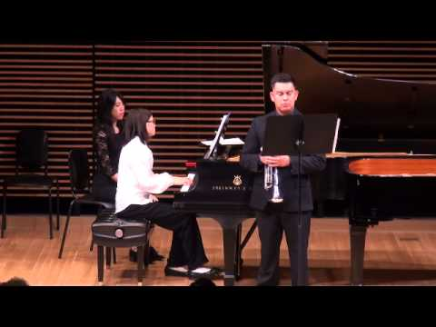 Pasadena City College Piano Accompanying Concert in 2015. Me at the piano accompanying a trumpeter in a Rachmaninoff song.