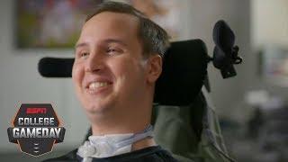 Ben Abercrombie inspiring Harvard teammates after neck injury | College GameDay