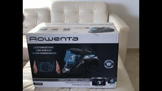 ROWENTA RO3753EA Compact Power Cyclonic Vacuum Cleaner 750 Watt Unboxing and Review 2020