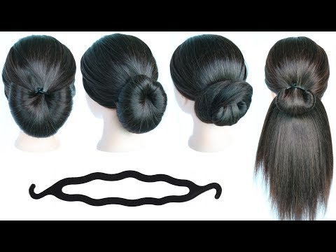 Download 5 Quick Simple Hairstyles With Using Bun Maker Cute