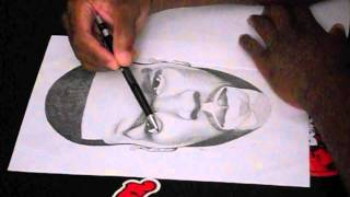 "50 Cent Speed Drawing ""The Paper"" / ""Run Up On Me"""