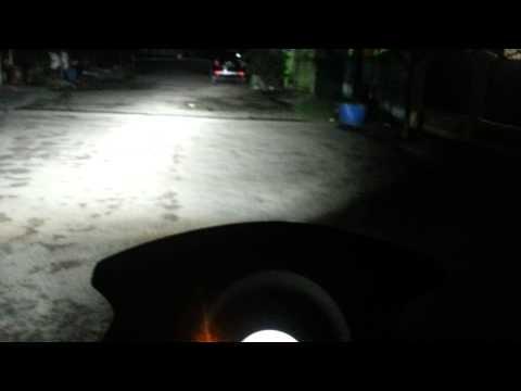 komparasi nyala headlamp led nmax  hid projector