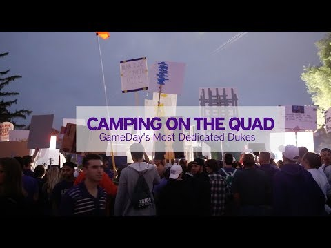 Camping on the Quad for GameDay