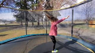 How to do a back handspring on a trampoline| 4 steps to a back handspring!