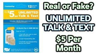 $5 per Month - Unlimited Talk & Text Mobile Phone - Deal or No Deal?