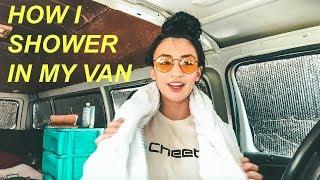 Solo Female Van Life: How I Shower In My Van 🛀 | Hobo Ahle