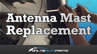 Antenna Mast & Rope suits Nissan Patrol GU Y61 Power Motorised