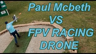 Paul McBeth at 2021 Jonesboro Open chased by FPV Racing Drone.
