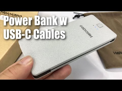 5000mAh Power Bank with USB-C Cables and Outlet Prongs by Heloideo Review