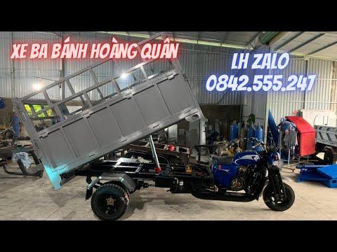 Xe Ba Bánh Máy 250cc Locin Leo Dốc Cực Khoẻ, Phuộc Độ, Thùng Lớn, Sườn Đôi | LH zalo: 0842.555,247