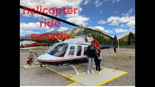 Flying Over Banff  || Helicopter Ride || Vlog 18 || Canada || Punjab || India || Mumbai ||