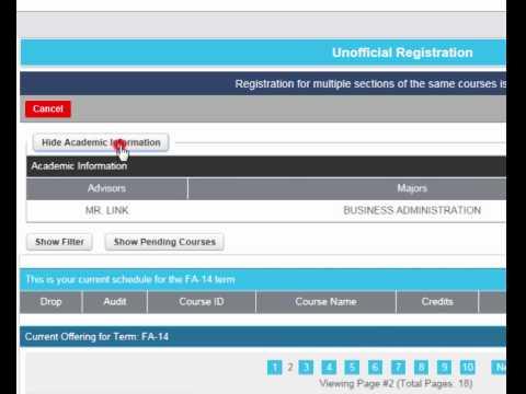Student Portal Class Registration Tutorial