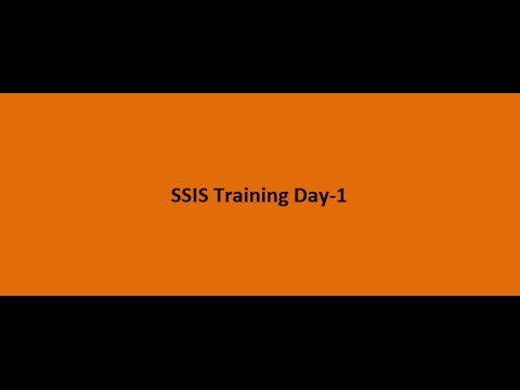 SSIS Training Day 1 - Introduction to SSIS - YouTube