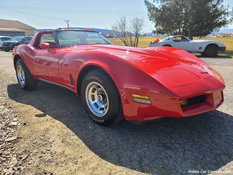 1980 Real Red Corvette 4spd T Top Video