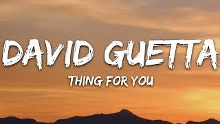 David Guetta & Martin Solveig   Thing For You (Lyrics)