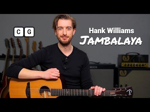 SONG 9 Hank Williams 'Jambalaya' // 10 SONGS WITH 2 CHORDS 1 BARRE CHORD