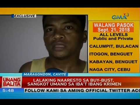 [GMA]  UB: Lalaking naaresto sa buy-bust, sangkot umano sa iba't ibang krimen