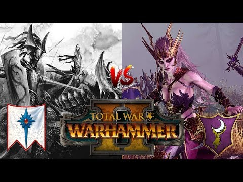 High Elves vs Dark Elves | THE PRINCES RIDE - Total War Warhammer 2