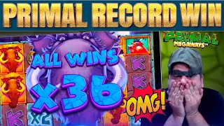 MUST SEE!!! PRIMAL SLOT GOES EXTINCT WITH MY BIGGEST EVER WIN!!!!