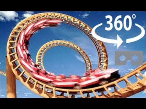 Roller Coaster 360 Virtual Reality - The X2 at Six Flags