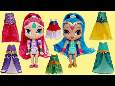 SHIMMER & SHINE Genie Magic Dresses Mix n Match | Toys Unlimited