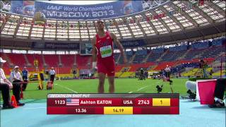 World Championship Moscow 2013 - Decathlon Men - Morning Session