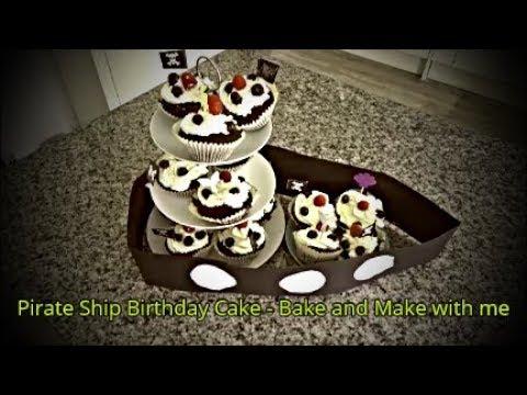 Pirate Ship Birthday Cake - Bake and Make with me