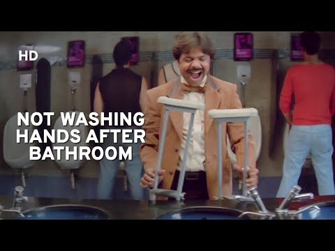 Rajpal Yadav avoids washing hands after bathroom | Salman Khan | Maine Pyaar Kyu Kiya | Comedy Film
