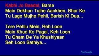 Kabhi Jo Badal Barse - Arijit Singh Hindi Full   - YouTube