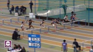 Aubière 2018 : Finale 60 m haies Espoirs F (Laura Valette en 8''21)