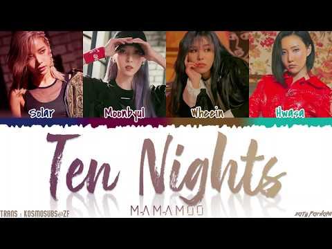 MAMAMOO (마마무) - 'TEN NIGHTS' (열 밤) Lyrics [Color Coded_Han_Rom_Eng]