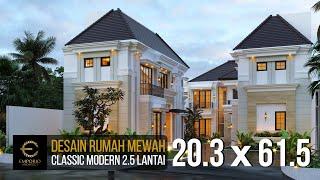 Video Desain Rumah Classic Modern 2.5 Lantai Bapak Ahmad di  Jakarta Selatan