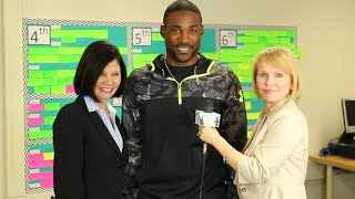 Patrick Peterson Foundation for Success Pizza Party at San Marcos Elementary School