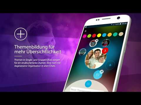 Der BubCon Messenger bietet  ein innovatives Design, einzigartige Funktionen und absolute Sicherheit aller Daten durch die Ende-zu-Ende Verschlüsselung.  Mit der weltweit einzigartigen Themenbildungsfunktion besteht die Möglichkeit bis zu 8 Themen in allen Gruppen- und Singlechats zu erstellen. Diese sorgen für ein strukturiertes Messaging und eine gute Übersichtlichkeit im Messenger.  Weitere Funktionen sind:  - Sprach- und Videotelefonie - Umfragefunktion - Hashtag- und Markierfunktion - Alternative Designs