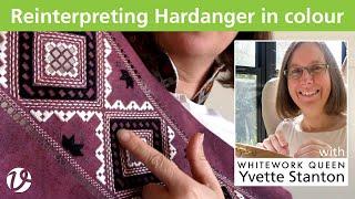 White Threads FlossTube #14 – Reinterpreting Hardanger In Colour
