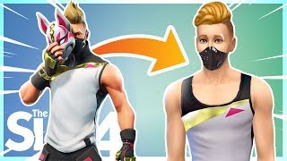 MAKING FORTNITE CHARACTERS in SIMS!