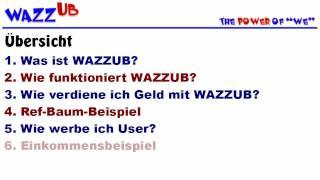 Einfach Geld Verdienen Mit WAZZUB - Präsentation Und Erklärung Auf Deutsch [Original]
