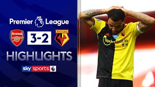 SUBSCRIBE ► http://bit.ly/SSFootballSub PREMIER LEAGUE HIGHLIGHTS ► http://bit.ly/SkySportsPLHighlights Highlights from the Premier League where a valiant Watford fightback was not enough to save them from relegation to the Sky Bet Championship as Arsenal clung on to secure a 3-2 win at the Emirates Stadium.  Watch Premier League LIVE on Sky Sports here ► http://bit.ly/WatchSkyPL ►TWITTER: https://twitter.com/skysportsfootball ►FACEBOOK: http://www.facebook.com/skysports ►WEBSITE: http://www.skysports.com/football  MORE FROM SKY SPORTS ON YOUTUBE: ►SKY SPORTS CRICKET: https://bit.ly/SubscribeSkyCricket ►SKY SPORTS BOXING: http://bit.ly/SSBoxingSub ►SOCCER AM: http://bit.ly/SoccerAMSub ►SKY SPORTS F1: http://bit.ly/SubscribeSkyF1