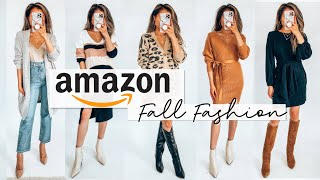Trying on AMAZON Fall Clothing - Cozy Fashion & Everyday Jewelry under $40 Amazon haul   Miss Louie